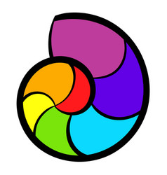 snail rainbow icon icon cartoon vector image