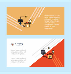 solar panel abstract corporate business banner vector image