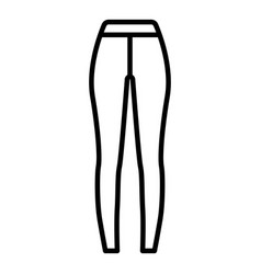 Sport tights icon outline style vector