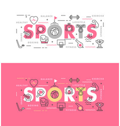 sports infographic template vector image
