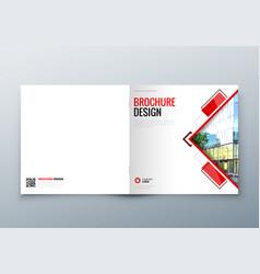 square brochure design corporate business vector image