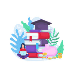 student investing in education vector image