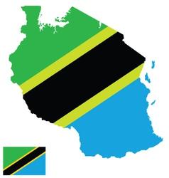 Tanzania Flag vector image