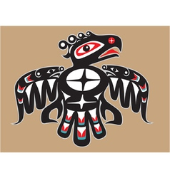 Thunderbird - native american style vector