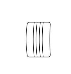 towel icon vector image