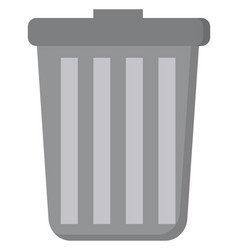 trash can on white background vector image