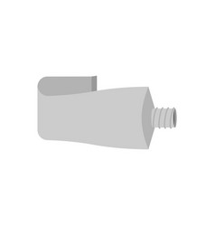 tube aluminum isolated blank packaging vector image