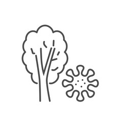 virus on plant related thin line icon vector image