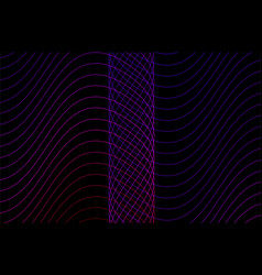 wavy background pattern with thin lines waves vector image
