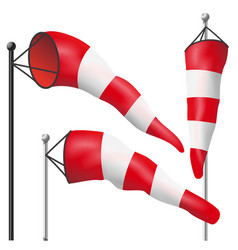 windsock sign isolated meteorology vector image