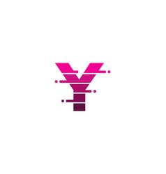 y letter pixel logo icon design vector image
