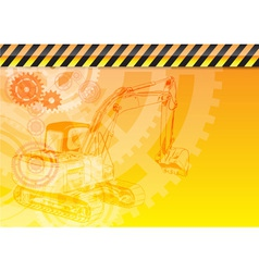 construction theme vector image vector image