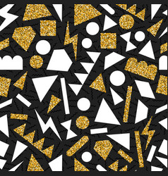 gold glitter abstract geometry seamless pattern vector image vector image