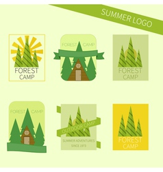 Set of travel and camping logo Outdoor emblems vector image