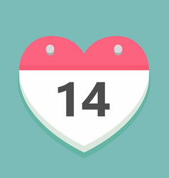 valentines day icon in the shape of a calendar vector image vector image