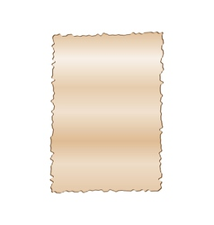 Vintage empty paper isolated on white background vector image