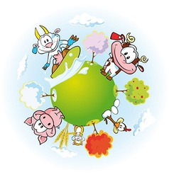 animal farm land vector image vector image