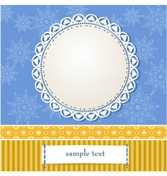 Arabesques Frame Design vector image