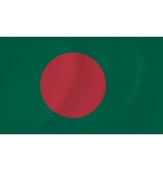 Bangladesh waving flag vector image