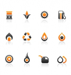 fuel icons and graphics vector image vector image