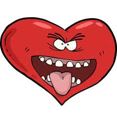 heart with an open mouth vector image