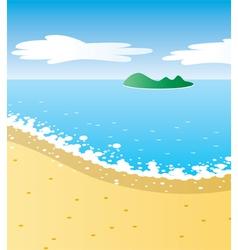 tropical beach vector image