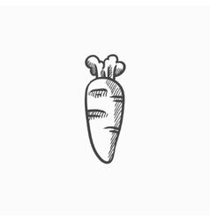 Carrot sketch icon vector image