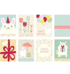 Collection of birthday banners vector
