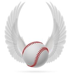 Flying baseball vector image vector image