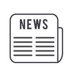 news line icon sign on vector image
