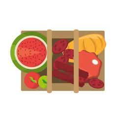 Picnic delicious food vector