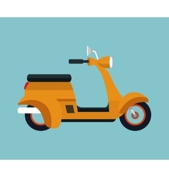 yellow motorcycle scooter vector image vector image