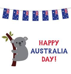 Australia Day card with a koala vector image