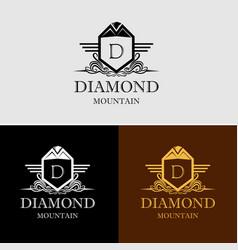 diamond mountain logo vector image vector image