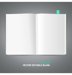 magazine template vector image