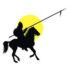 Oriental horseman vector image