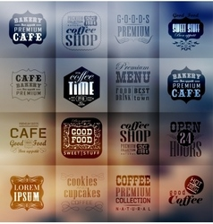 Retro bakery labels and typography vector image