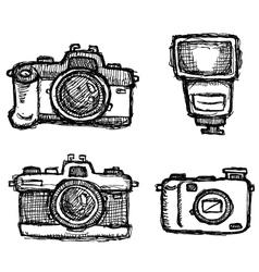 scribble series - cameras vector image vector image