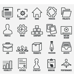Set of outline seo and internet service icons vector image