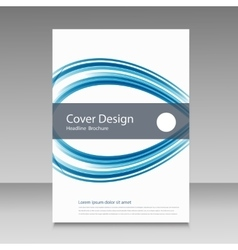 Abstract line brochure design vector image