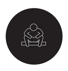 Anxiety disorder black concept icon vector