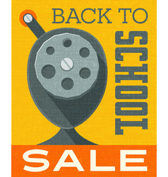back to school design vintage pencil sharpener vector image