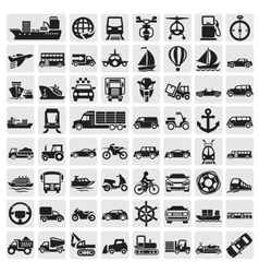 big transportation icon set vector image