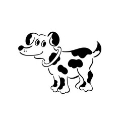 Black and white dog smart and darling doggy vector