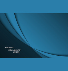 blue abstract background with dark curves vector image