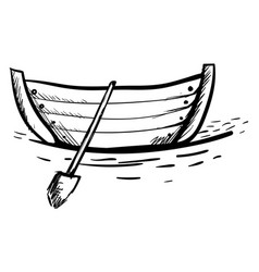 boat drawing on white background vector image