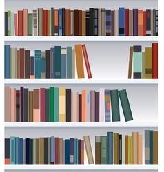 bookshelf vector image