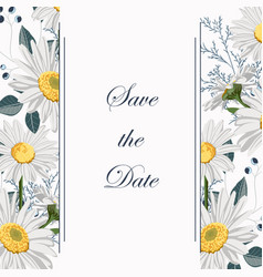 botanical spring wedding invitation card template vector image