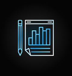 business report with pencil colored line vector image