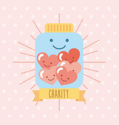 charity donate children vector image